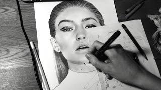 Drawing Gigi Hadid