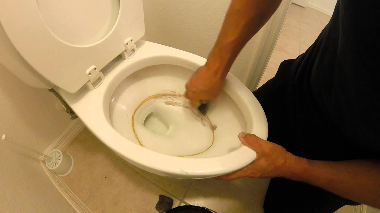 How To Remove Stubborn Toilet Buildup (calcium deposits) - YouTube