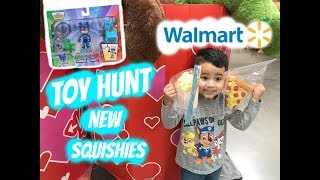 TOY HUNT at WALMART NEW SQUISHIES, CARS 3, NEW PJ MASKS TOYS, SLIME