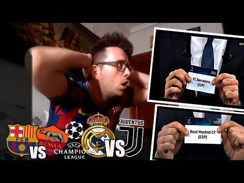 FAN del BARCELONA reacciona al SORTEO de CUARTOS UEFA Champions League   Barcelona vs Roma
