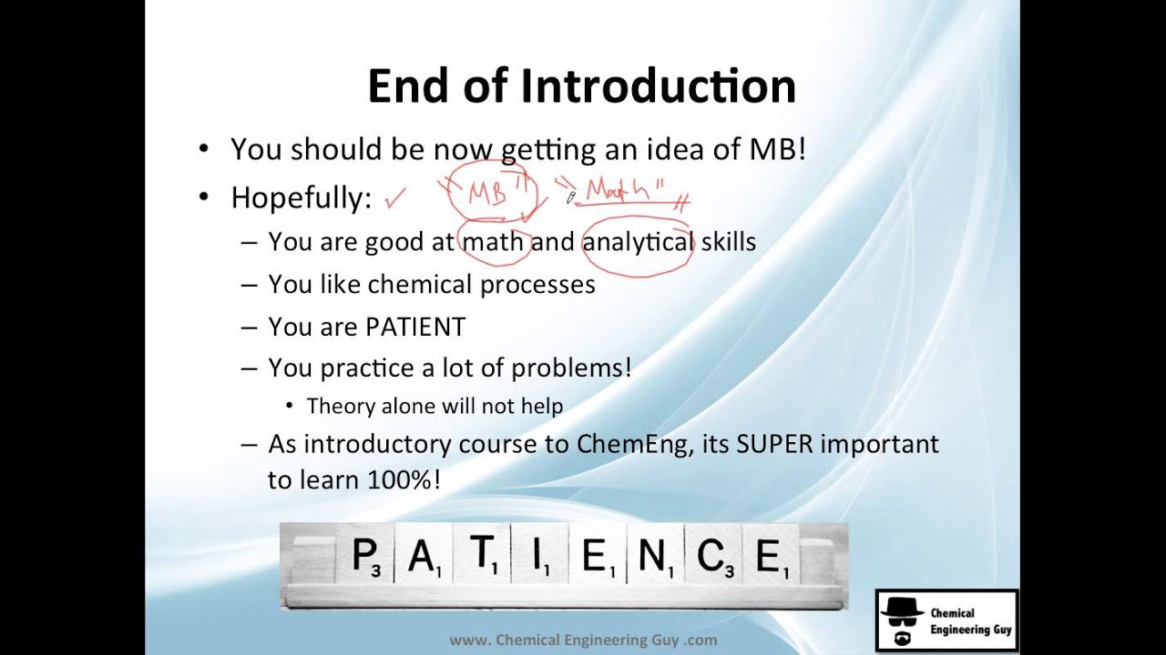 Introduction to Mass Balance Course (Chemical Engineering) - PART ...