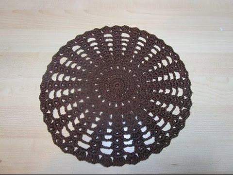 Uncinetto Crochet Centrino Marrone Tutorial Youtube