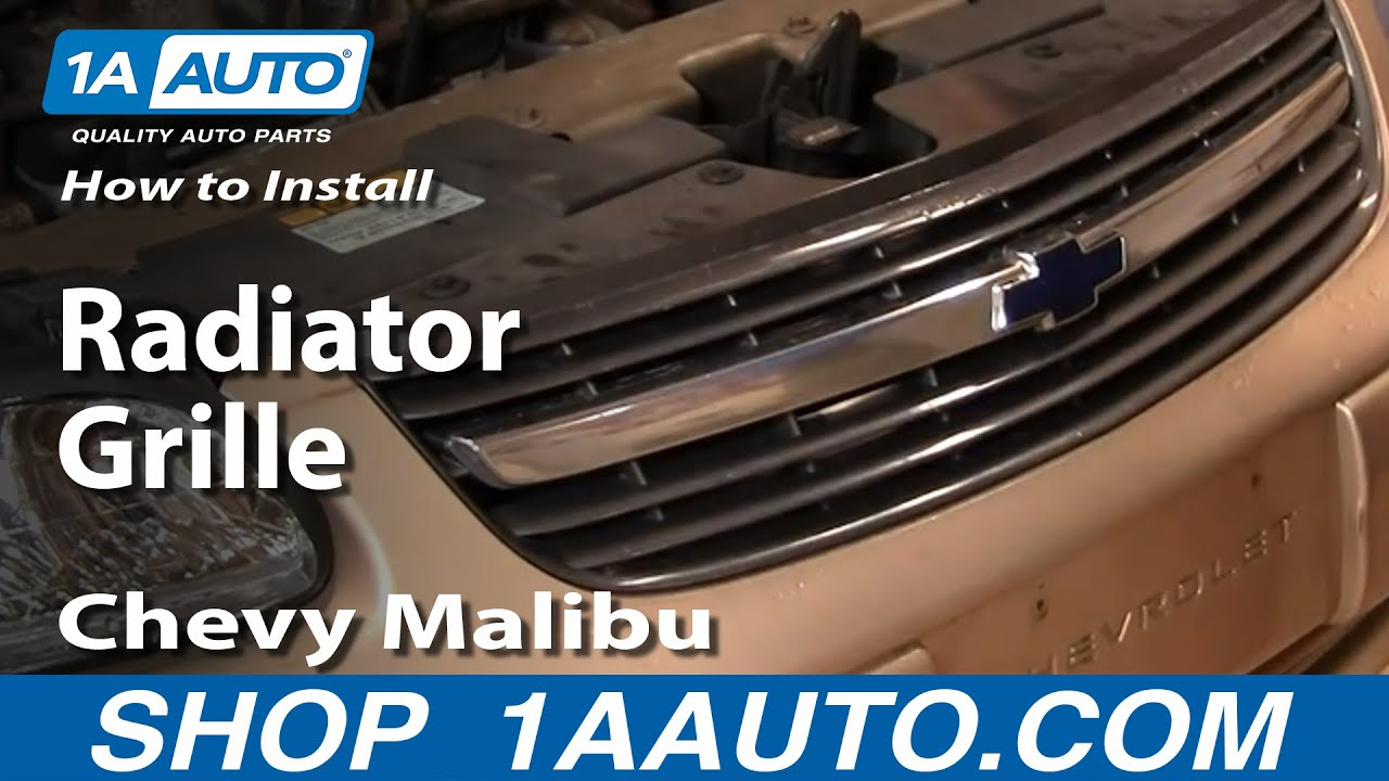 How to install replace radiator grille chevy malibu 00 03 1aauto com