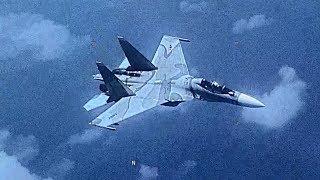 Venezuela SU-30 Flanker Aggressively Shadows a U.S  EP-3 Aircraft