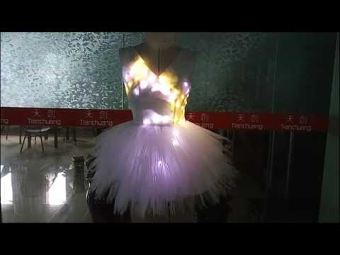 TC-0182 showgirls led light up skirt, alice@vsledclothes.com