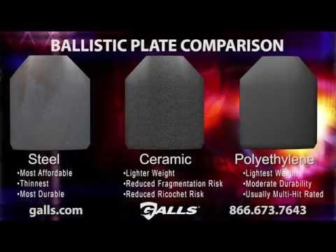 Galls Ballistic Plate Comparison: Steel vs Ceramic vs Polyethylene