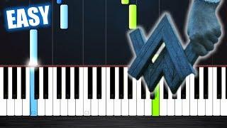 Alan Walker - Darkside - EASY Piano Tutorial by PlutaX