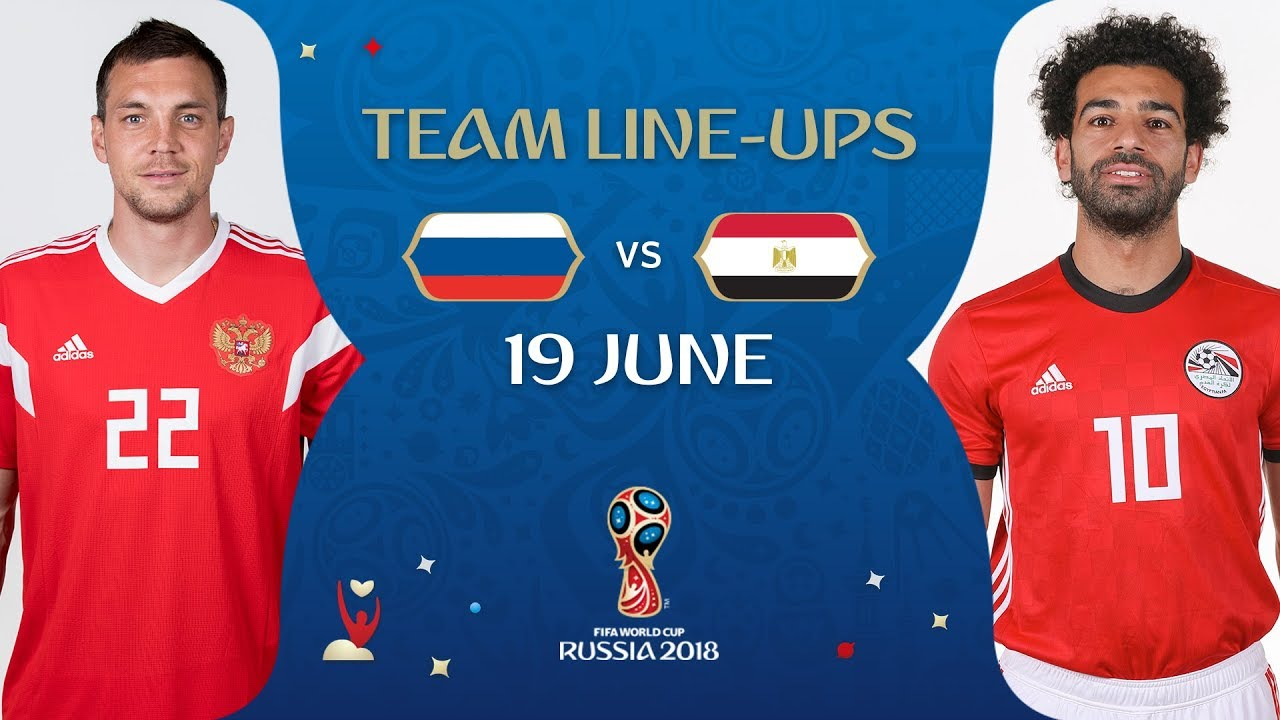 LINEUPS – RUSSIA v EGYPT - MATCH 17   2018 FIFA World Cup™ - YouTube 84495d3e5