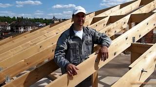 видео Расчет стропильной системы двухскатной крыши: размеры, сечение, толщина