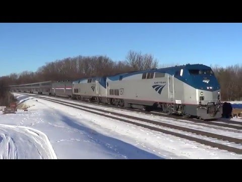 Thumbnail: Five-Minute-Late Amtrak #6 on Left Track
