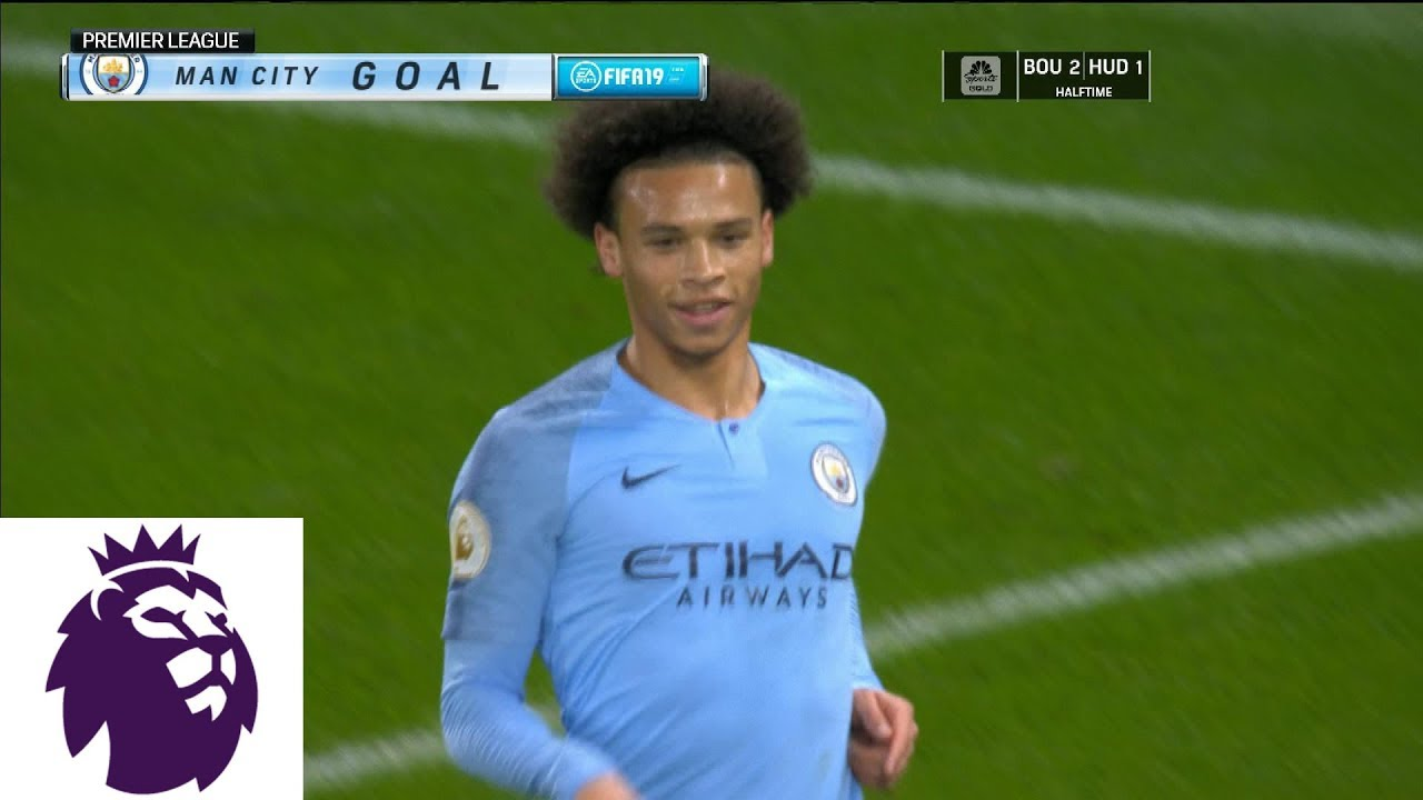 Leroy Sane scores with his chest for Man City against Watford I Premier League I NBC Sports