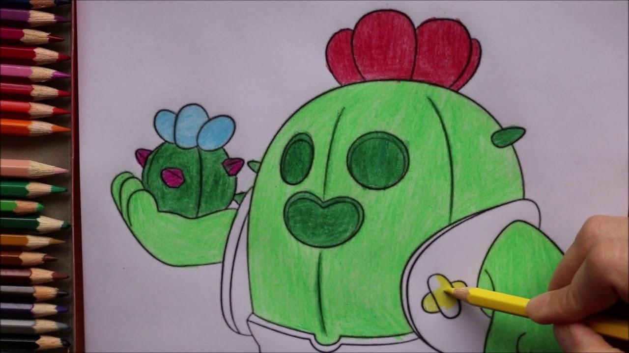 Coloring Spike Brawl Stars Faber Castell | Раскраска Спайк ...