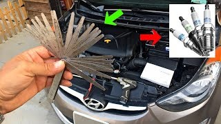 HOW TO REPLACE SPARK PLUGS ON HYUNDAI ELANTRA. Spark plugs gap