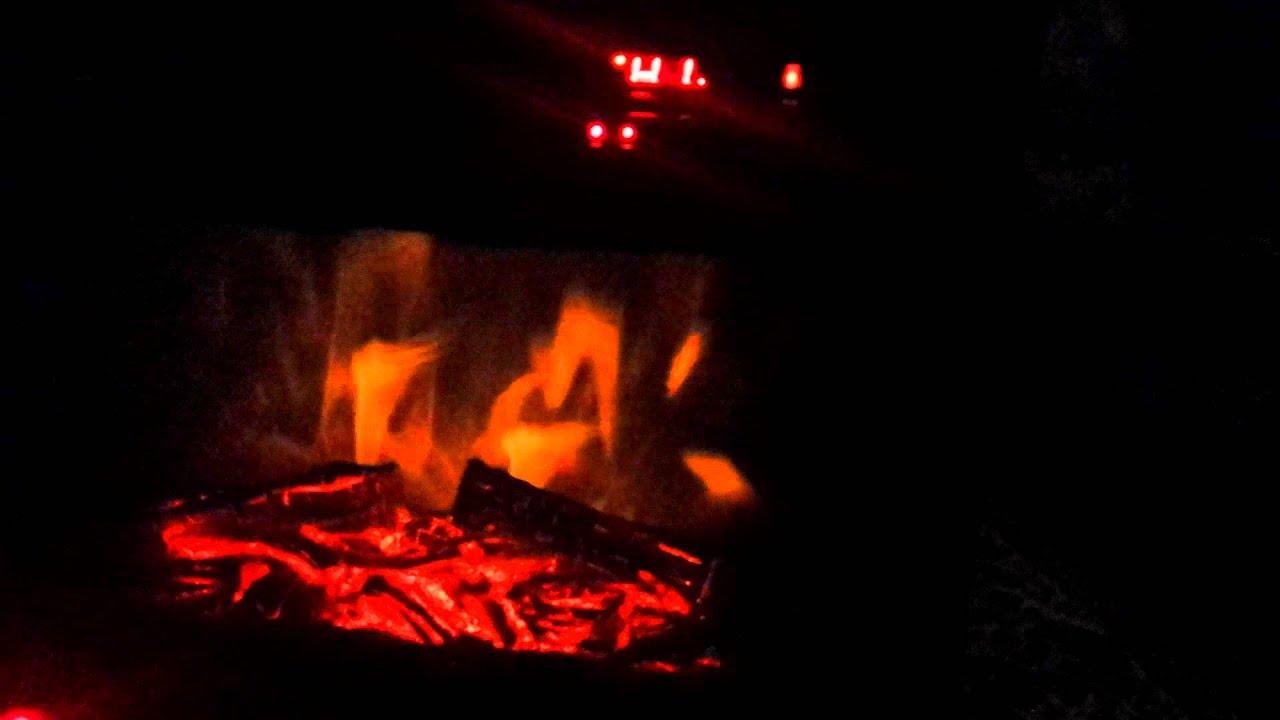 green peak large room infrared quartz fireplace in burnished oak