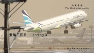 世界で370万回以上再生8回バウンド着陸映像 Narita international airport 2014.3.18