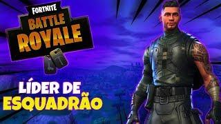 I GOT THE SQUAD LEADER SKIN AND I WON THE MATCH!! -Fortnite Battle Royale