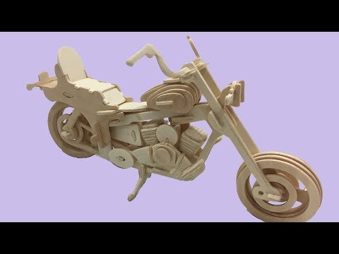 Sea-Land DIY 3D Woodcraft Construction Kit MOTORCYCLE HD I #2