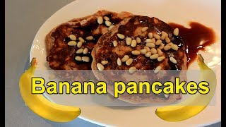 Рецепт банановых оладий с протеином без сахара. Фитнес рецепт