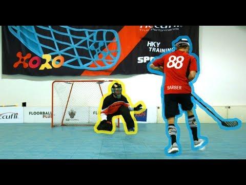 PAVEL BARBER VS. HENRIQUE LUNGFIST.  | FLOORBALL SHOOTOUT CHALLENGE!