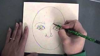 Teaching Kindergarten how to draw a self portrait