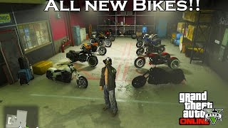 GTA 5 BIKER DLC - BUYING MOTORCYCLE CLUBHOUSE & ALL NEW BIKES!!