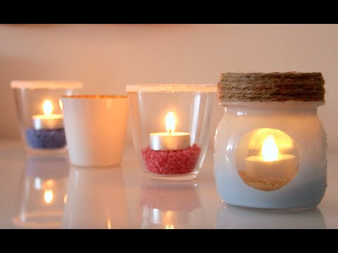 Diy porta candele candle jar riciclo eng fr it sp for Ikea portacandele