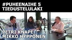 Tiedustelulaki: Uhka vai mahdollisuus? (Mikko Hyppönen ja Petri Knape) | #puheenaihe 5