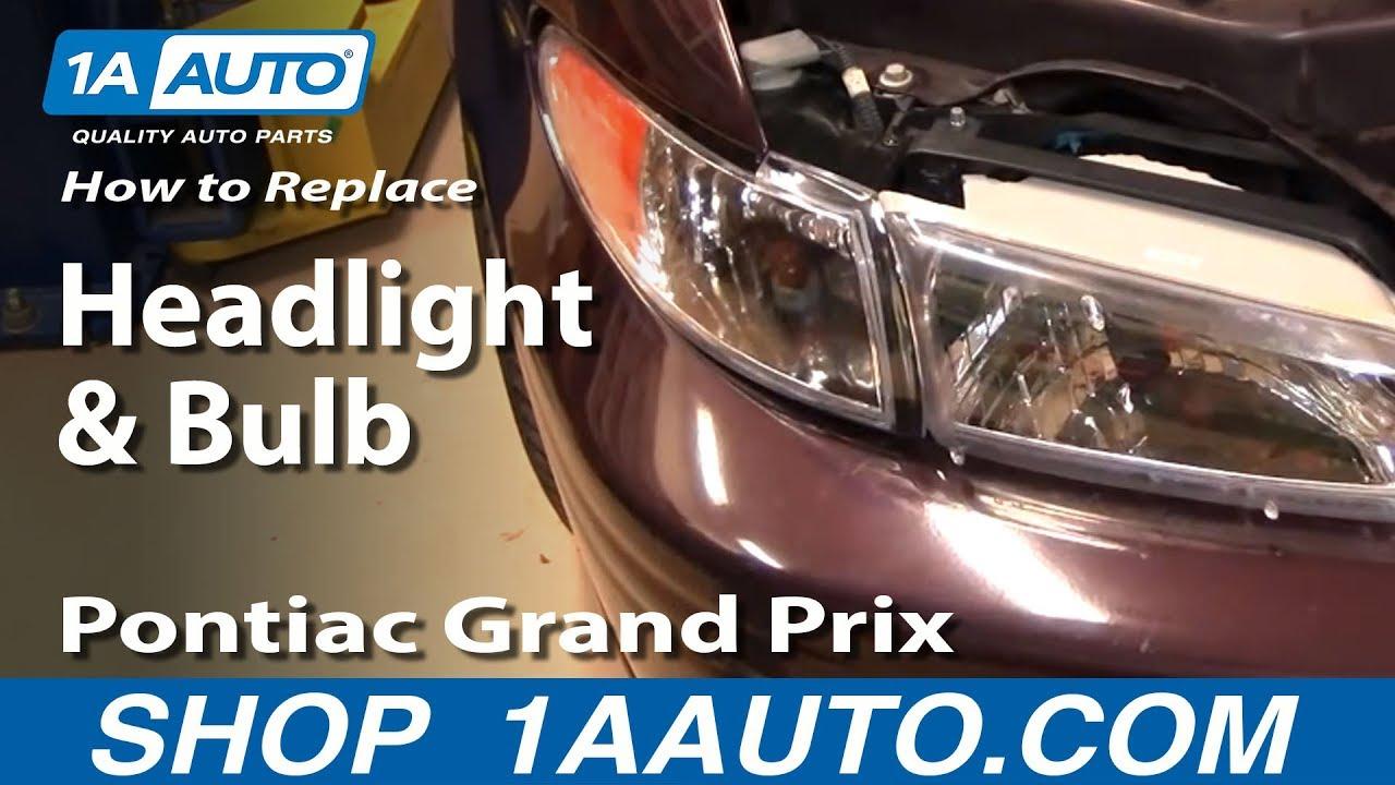 How To Replace Headlight 97 03 Pontiac Grand Prix