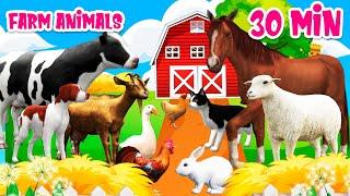 Farm animal sounds Farm animals for kids Learn Farm animals Cow Horse