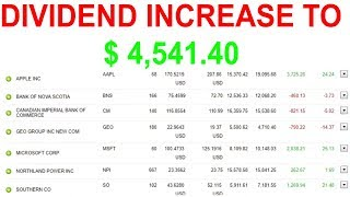 Dividend Increase Of $230 Stock Portfolio For Passive Income