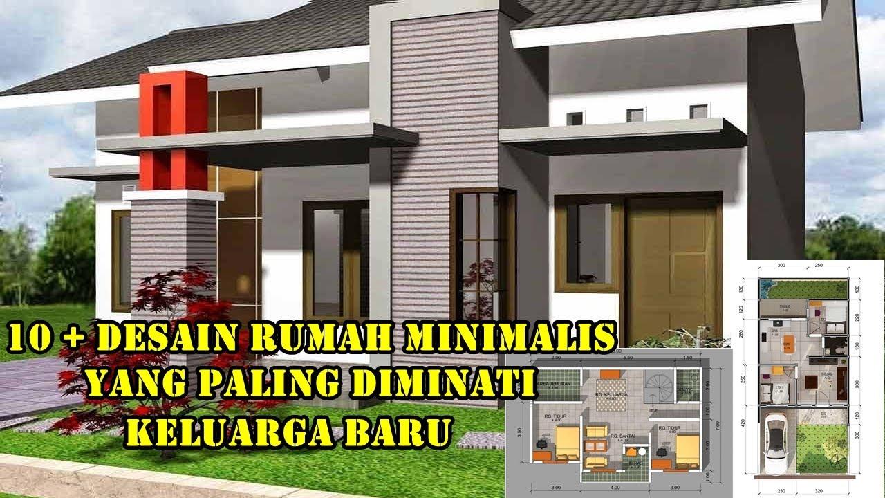 10+ Desain Rumah Minimalis Modern Terbaru Tahun 2021 Model Sederhana 6x10 2  & 3 Kamar 1 Lantai - YouTube