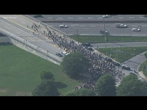 Groups march, gather in Atlanta