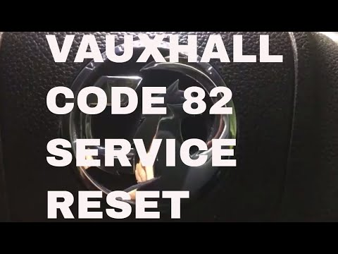 Vauxhall Code 82 Service Reset on Meriva Spanner Symbol Dash Oil Percentage Reset With Stalk Button