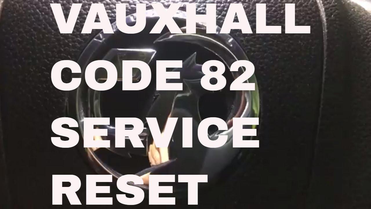 vauxhall code 82 service reset on meriva spanner symbol dash oil