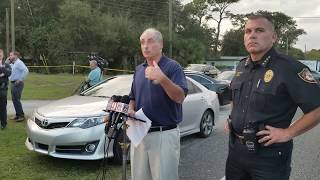 VCSO/DeLand PD joint media briefing: Shooting incident 11/19/18
