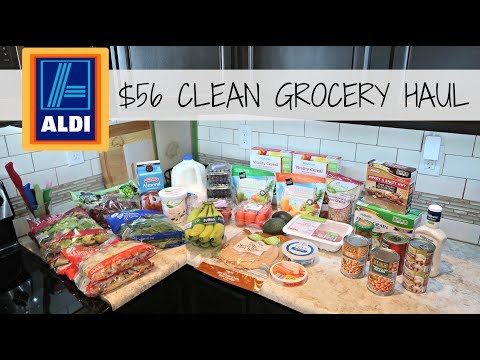 $56 ALDI Healthy Grocery Haul // Family of 4