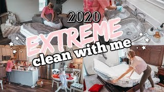 2020 EXTREME WHOLE HOUSE CLEAN WITH ME//CLEANING MOTIVATION//DECLUTTER