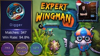TOP 1 DIGGIE a.k.a Impunity*Frost GAMEPLAY vs Louvre ! You Should Learn From This Guy !