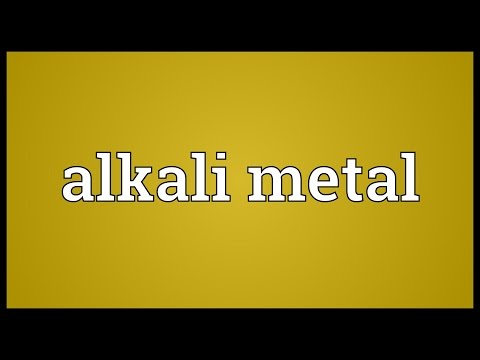 Alkali metal Meaning