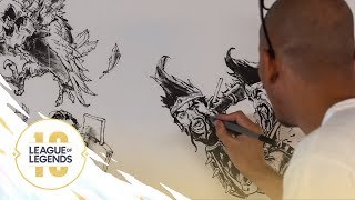 Our Game (ft. Kim Jung Gi) | Anniversary 2019 Mural Time Lapse - League of Legends