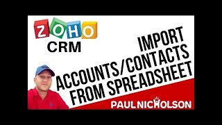Zoho CRM Import From A Spreadsheet Full Tutorial