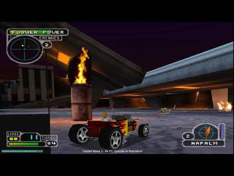 Playstation 1 at 8k Resolution - Comparison - Twisted Metal 2,3,4