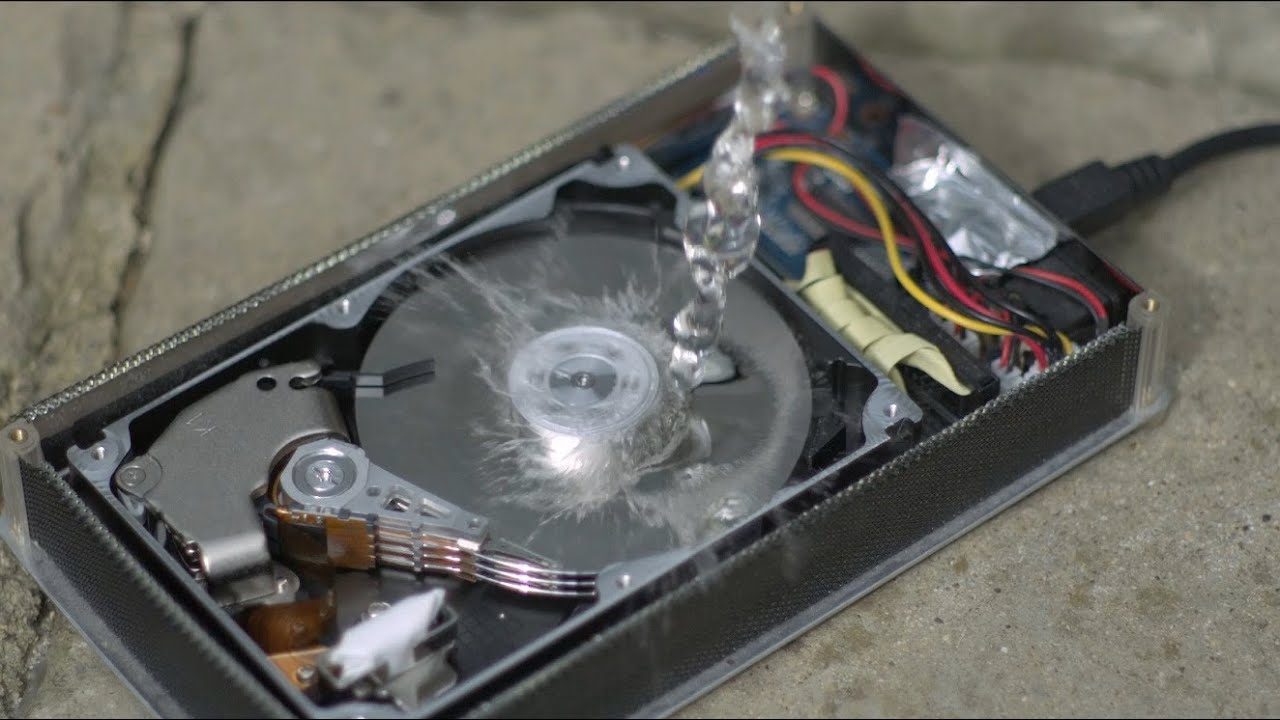 How a Hard Drive works in Slow Motion  The Slow Mo Guys