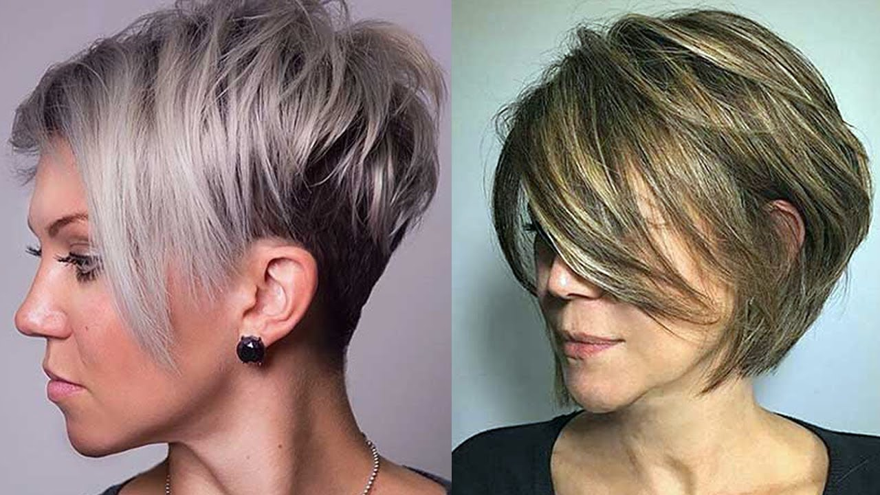 Layered Haircuts For Short Hair 2018 Short Layered Hairstyles For Women Youtube