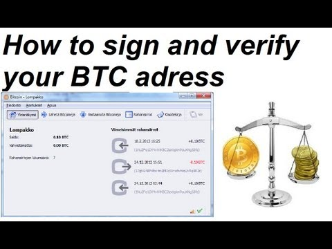 How To Sign And Verify Messages With Your Bitcoin Adress From Your Softwarewallet