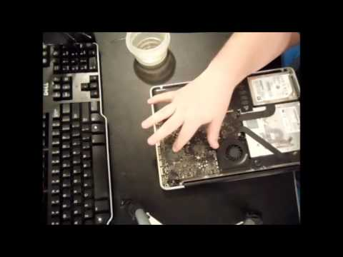 How to REMOVE Water CORROSION Macbook Pro Air Logic Board (Clean Liquid Spill Motherboard Repair Fix