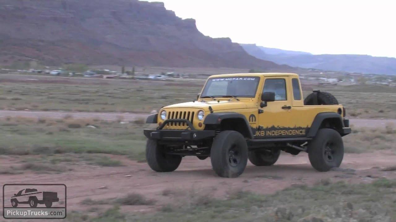 Video Walkaround Of The Mopar Jeep Jk 8 Youtube Wrangler Pickup Interior