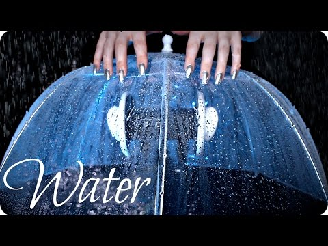 ASMR Umbrella ☔️ Water Spritzing all Around & On You, Brushing, Tapping & Rain Sounds (No Talking)
