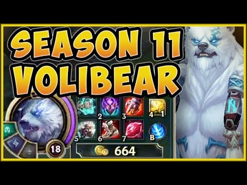 BIG BULLY VOLIBEAR IS BUSTED WITH NEW SEASON 11 ITEMS! THIS BEAR DOES SO WAY TOO MUCH DAMAGE!