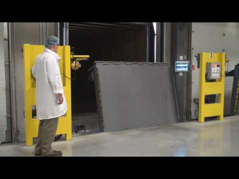 Pentalift Vertical Storing Dock Leveler for efficiency, safety